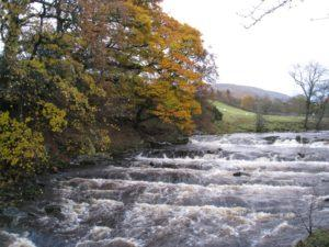 The River Clough - the view from the Threshing Barn